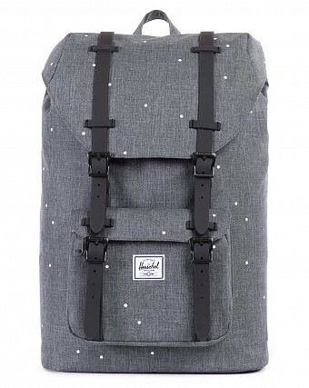 Рюкзак Herschel Little America Mid-Volume Scattered Charcoal Black Rubber