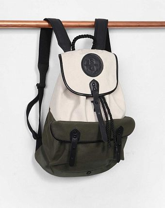 Рюкзак-мешок Stighlorgan Roban Drawstring Backpack Cotton Canvas Calico & Olive Green