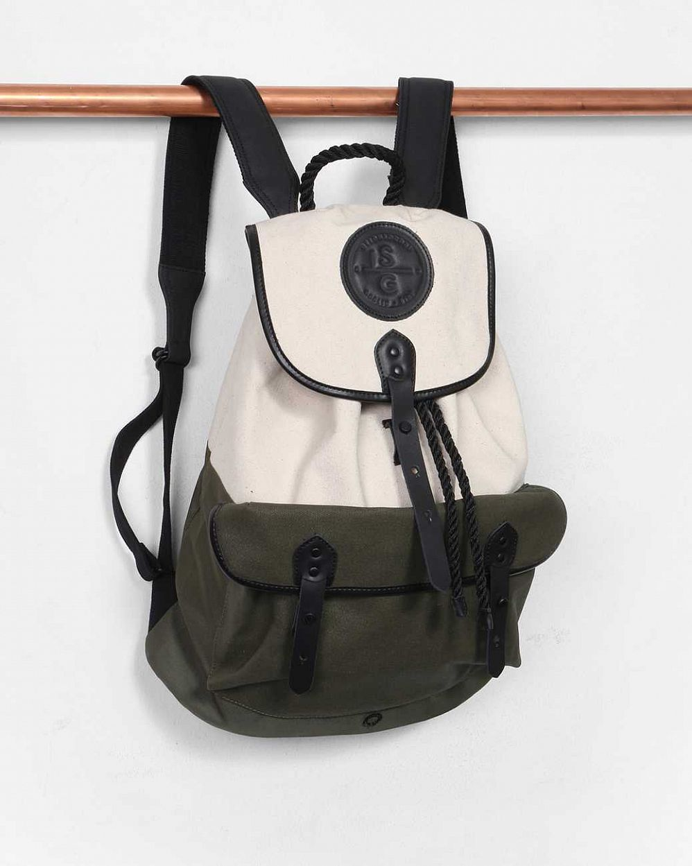 купить Рюкзак-мешок Stighlorgan Roban Drawstring Backpack Cotton Canvas Calico & Olive Green в Москве