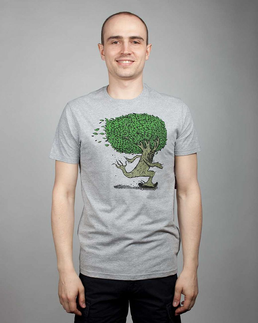 купить Футболка Element Pushin Tree SS F Grey Heather в Москве