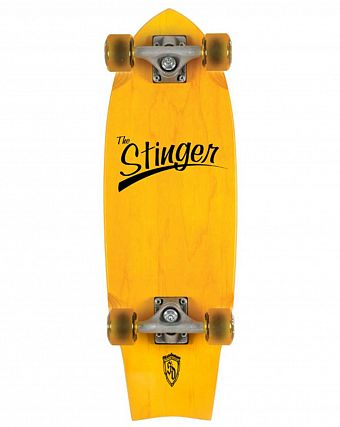 Пенни борд рыбка Skate Design Ink. Stinger yellow