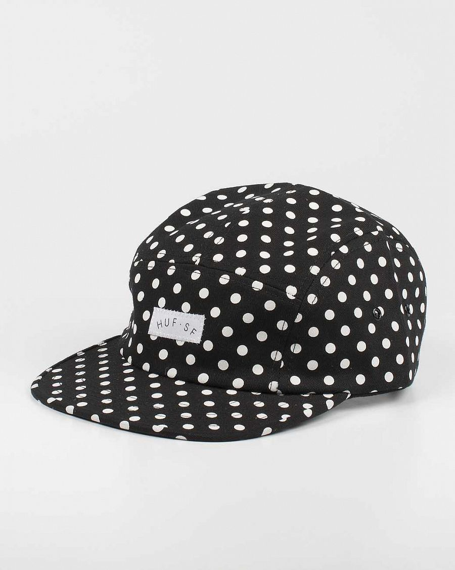 Бейсболка Huf Polka Dot Volley Black отзывы