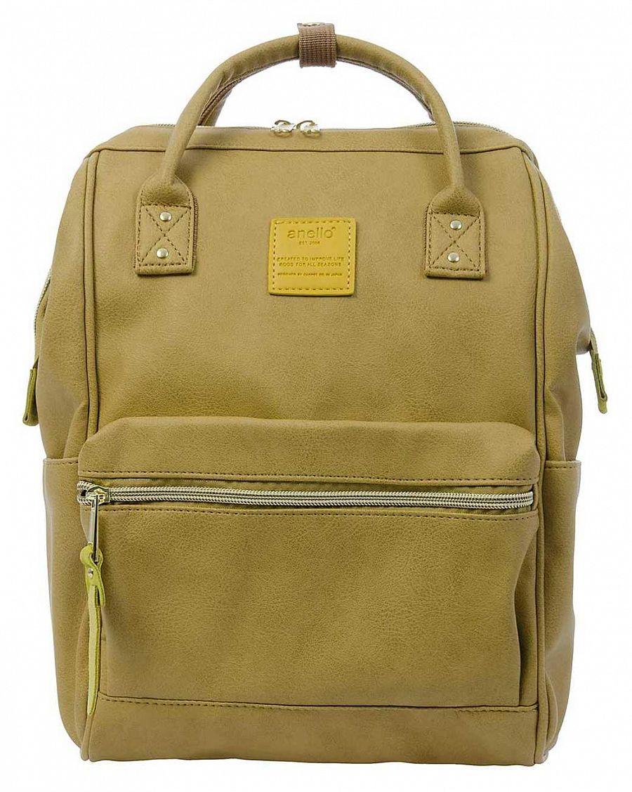 cb62a8e927bb Рюкзак с двумя ручками кожаный Anello Japan AT-B1212 Lime купить с ...