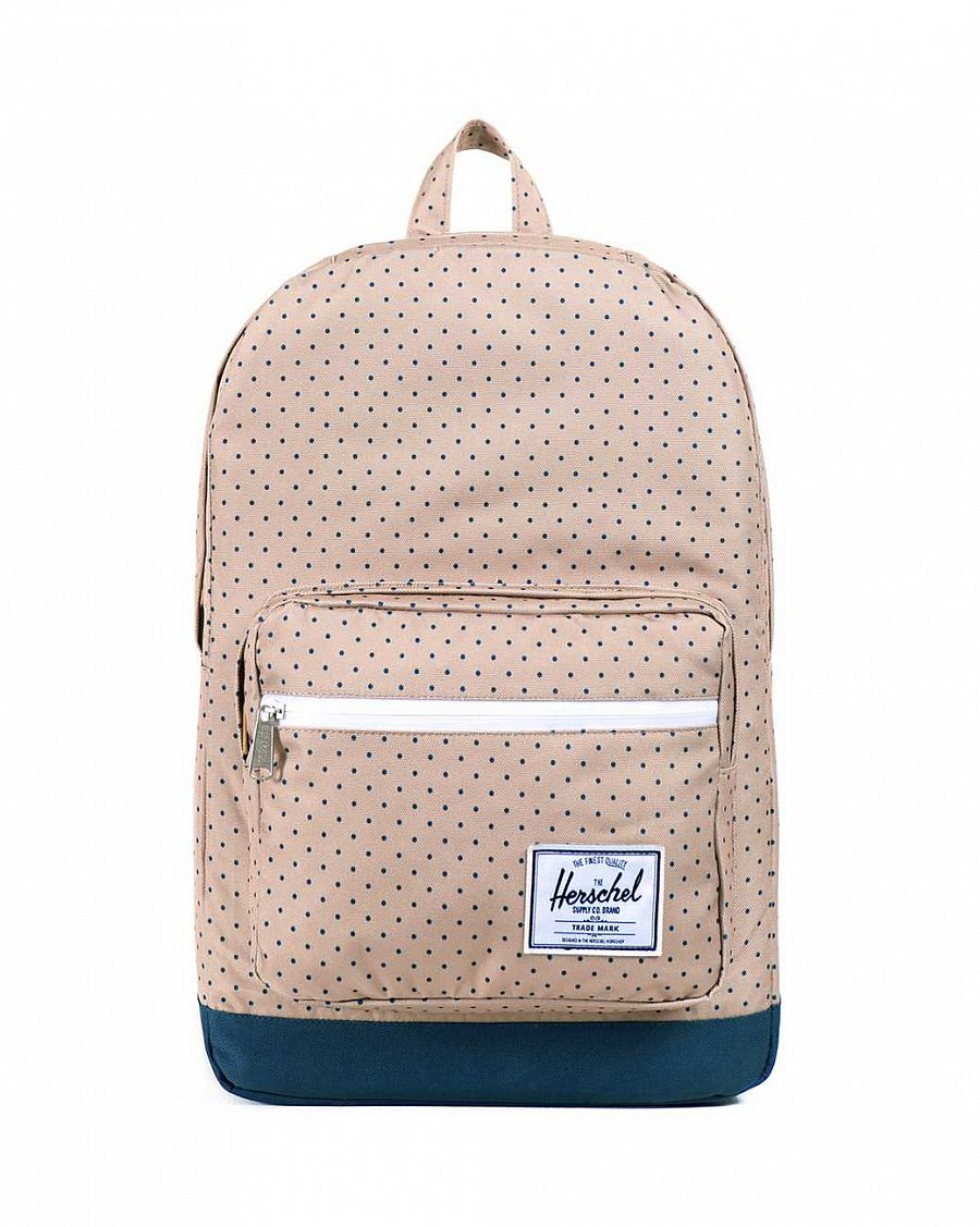 Рюкзак Herschel Pop Quiz Khaki Polka Dot Navy отзывы