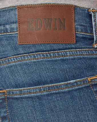 Джинсы мужские узкие Edwin ED-85 Slim Tapered Low Crotch CS Denim 11 Oz Mid Trip