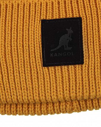 Шапка Kangol British K3020ST Patch Beanie Amber