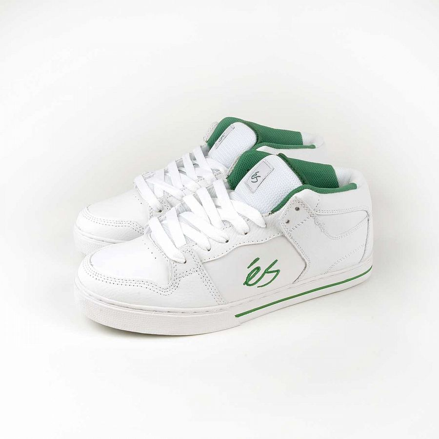 Кеды Es Cessna Mid White Green отзывы