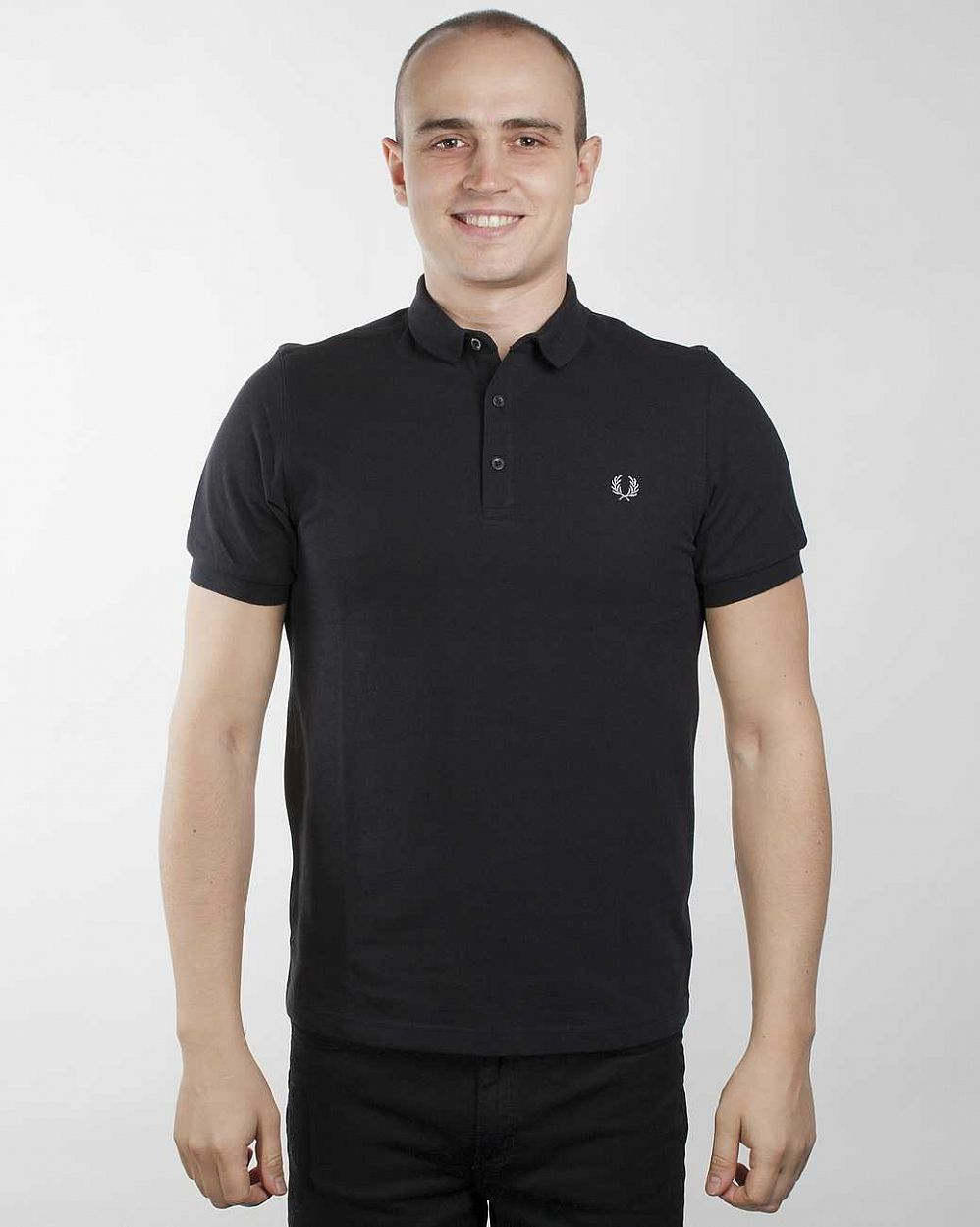 Поло Fred Perry M8346 Tipping Pop Shirt Slim Fit Black отзывы