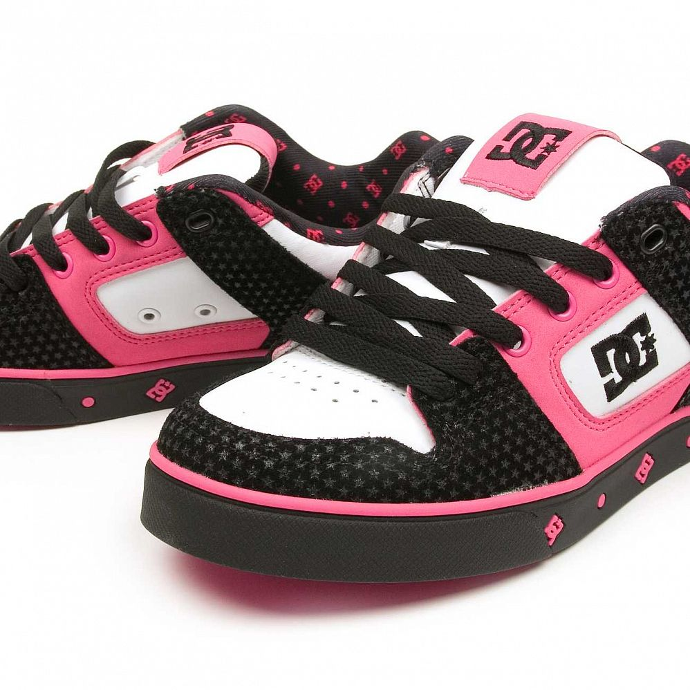 Кеды DC Shoes Pure SE Ladies Shoe Blk/crazy Pink цена в Москве