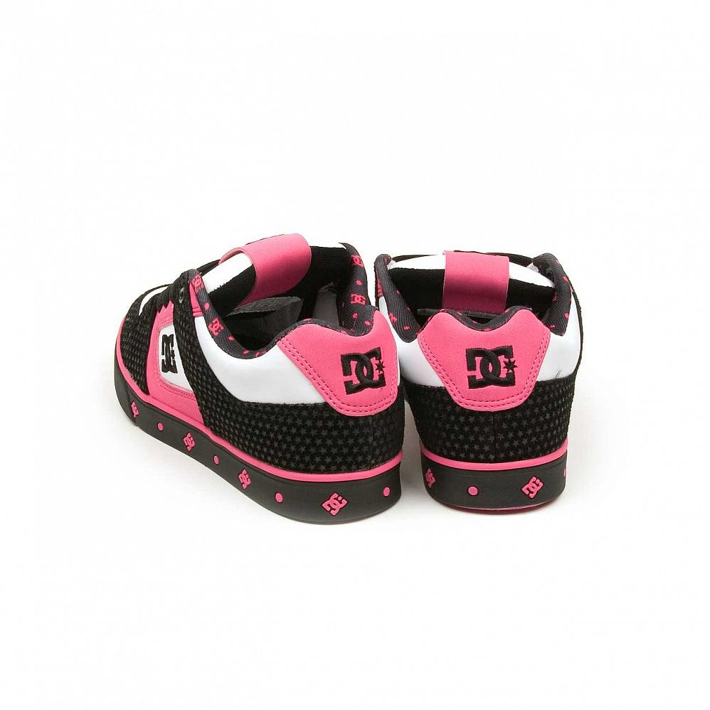 Кеды DC Shoes Pure SE Ladies Shoe Blk/crazy Pink интернет-магазин в Москве