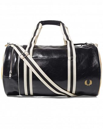 Сумка спортивная Fred Perry L4305 Classic Barrel Bag Black Yellow