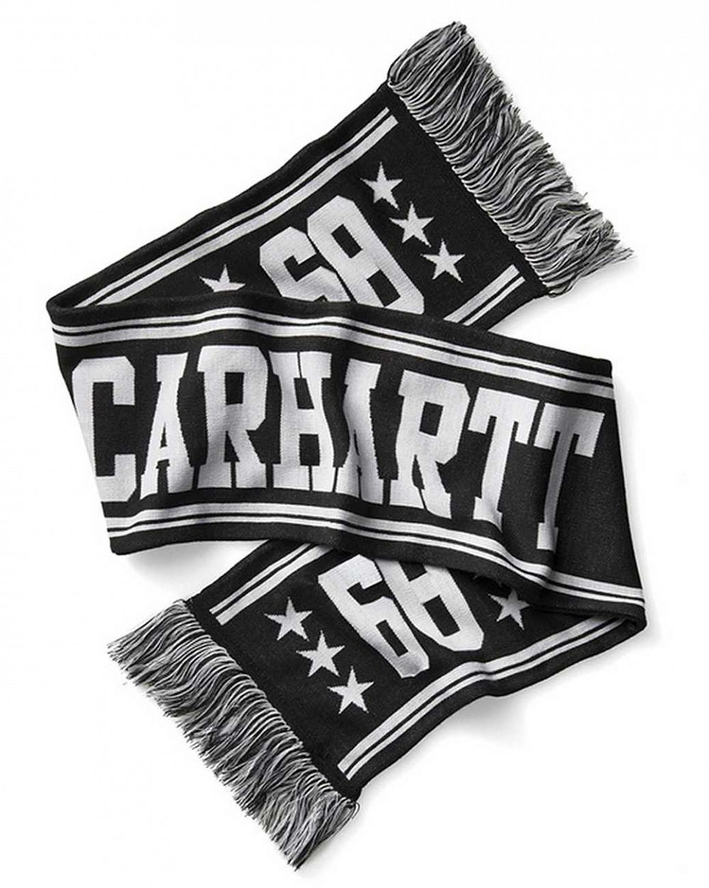 Шарф мужской Carhartt WIP Fan Scarf Black White цена в Москве