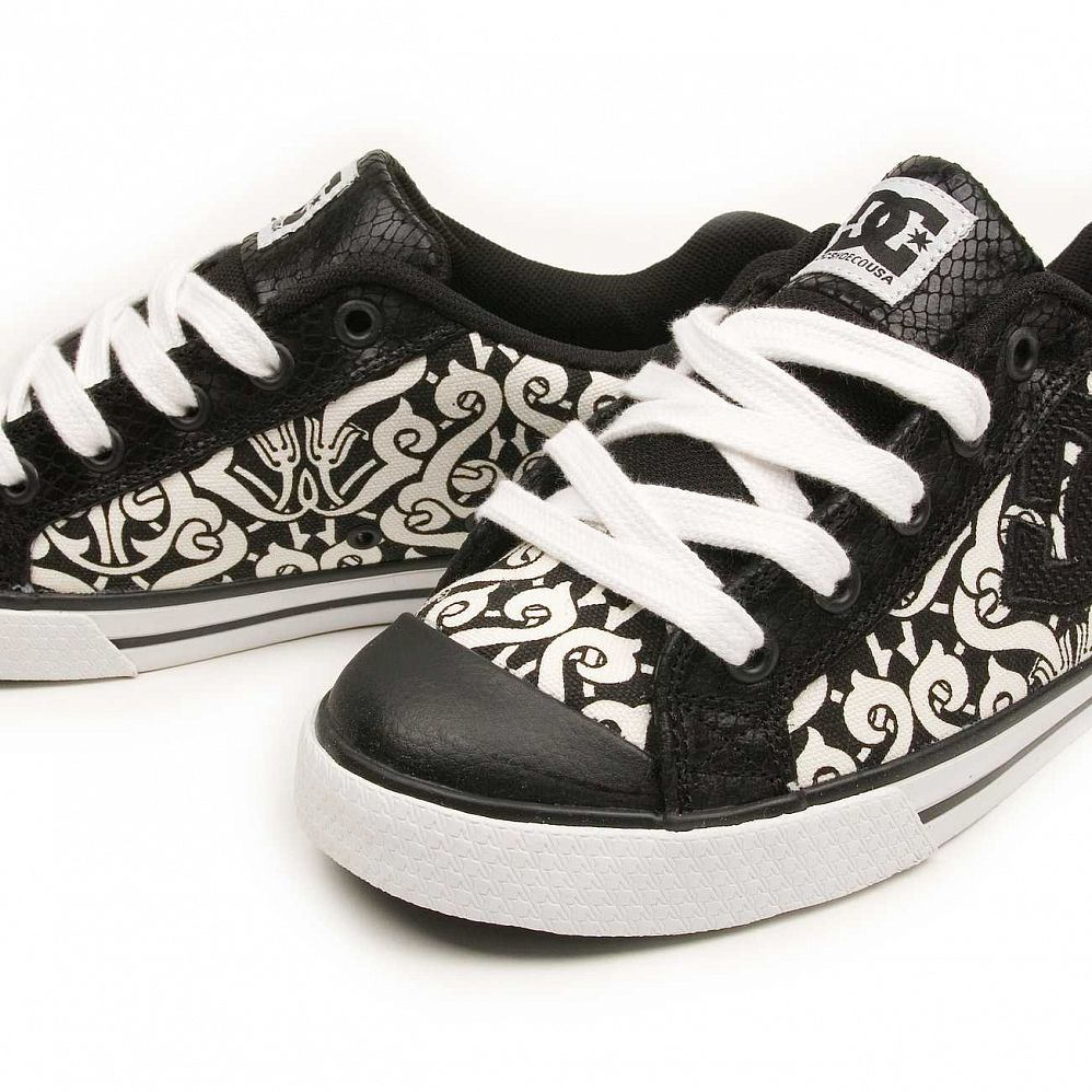 Кеды DC Shoes Chelsea W'S Black Black White цена в Москве