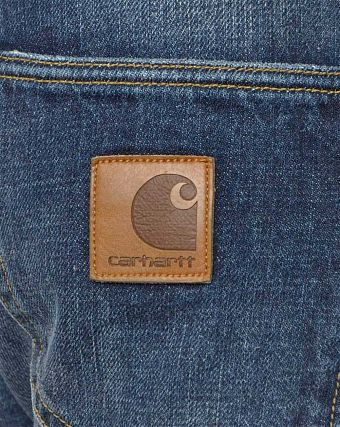 Джинсы зауженные Carhartt WIP Klondike Edgewood 12 Oz Blue Natural Dark Washed