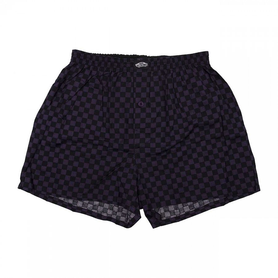 Трусы Vans Basic Check Boxer Plum/black отзывы