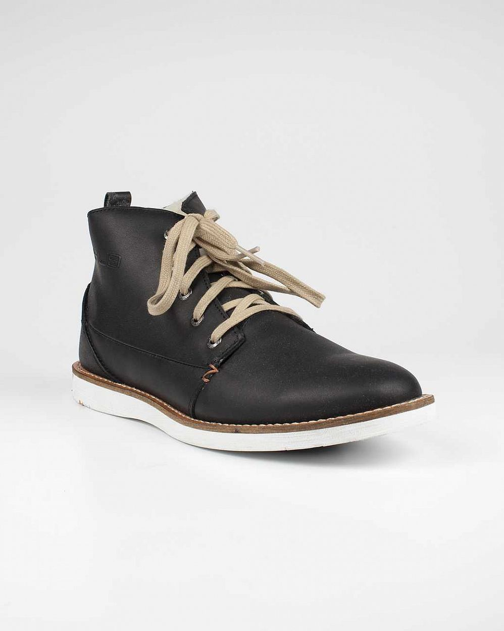 купить Ботинки Hubfootwear Jag Wool Leather not tumbl Black White в Москве