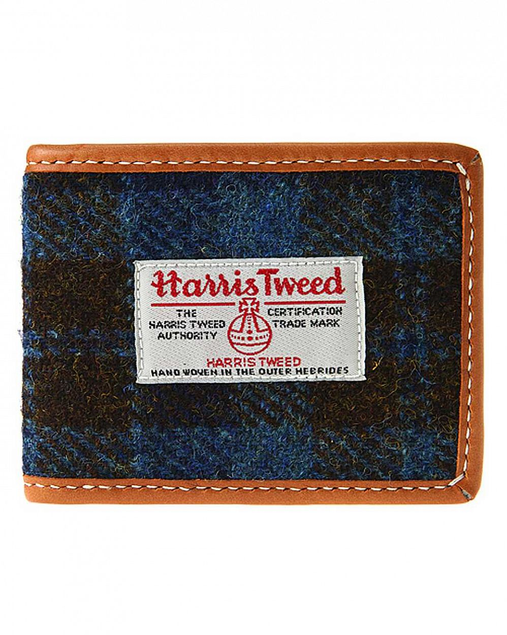купить Кошелёк The earth Company Harris Tweed  (England) Wallet blue в Москве