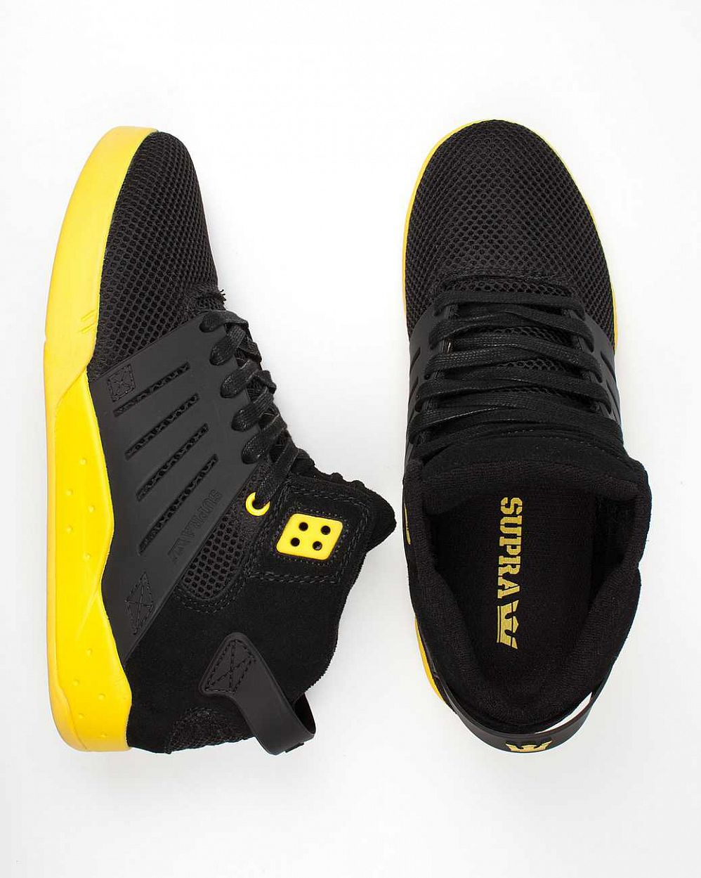 Кеды Supra Skytop III black yellow интернет-магазин в Москве
