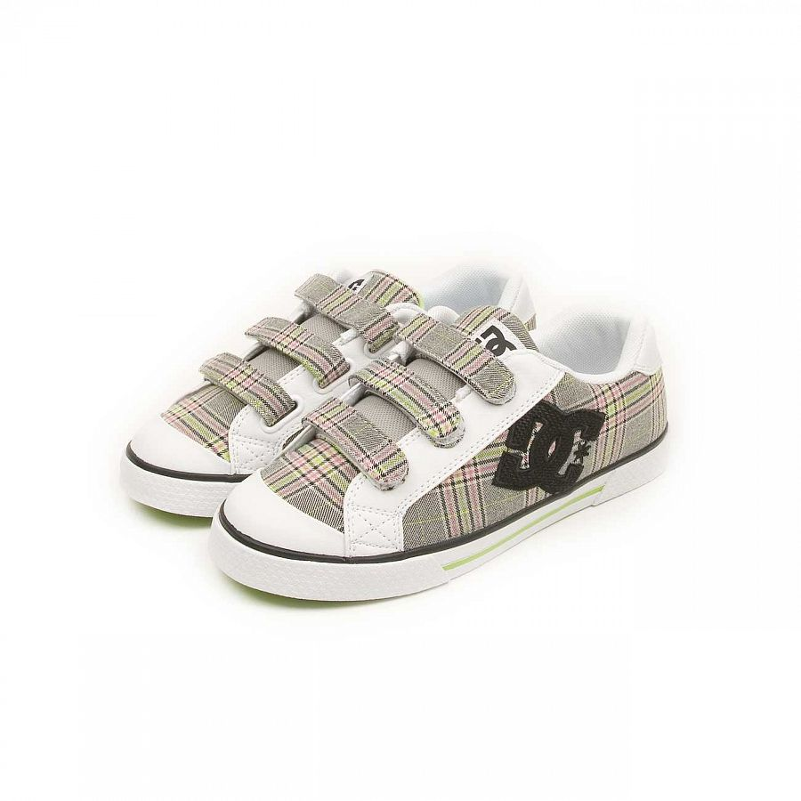 75890cf01fc Кеды женские на липучке DC Shoes Chelsea V White Soft Lime купить в ...