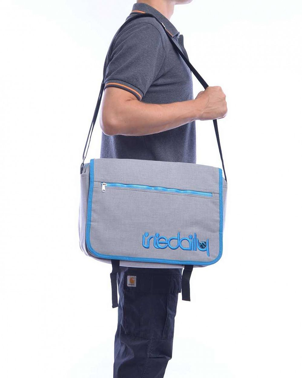 Cумка Iriedaily Allied Shoulder Bag Cyan Blue отзывы