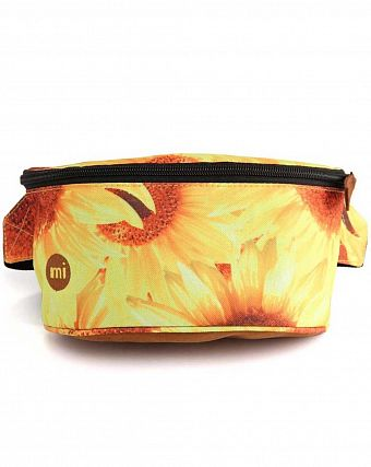Сумка поясная Mi-Pac Bum Bag Sunflowers Yellow