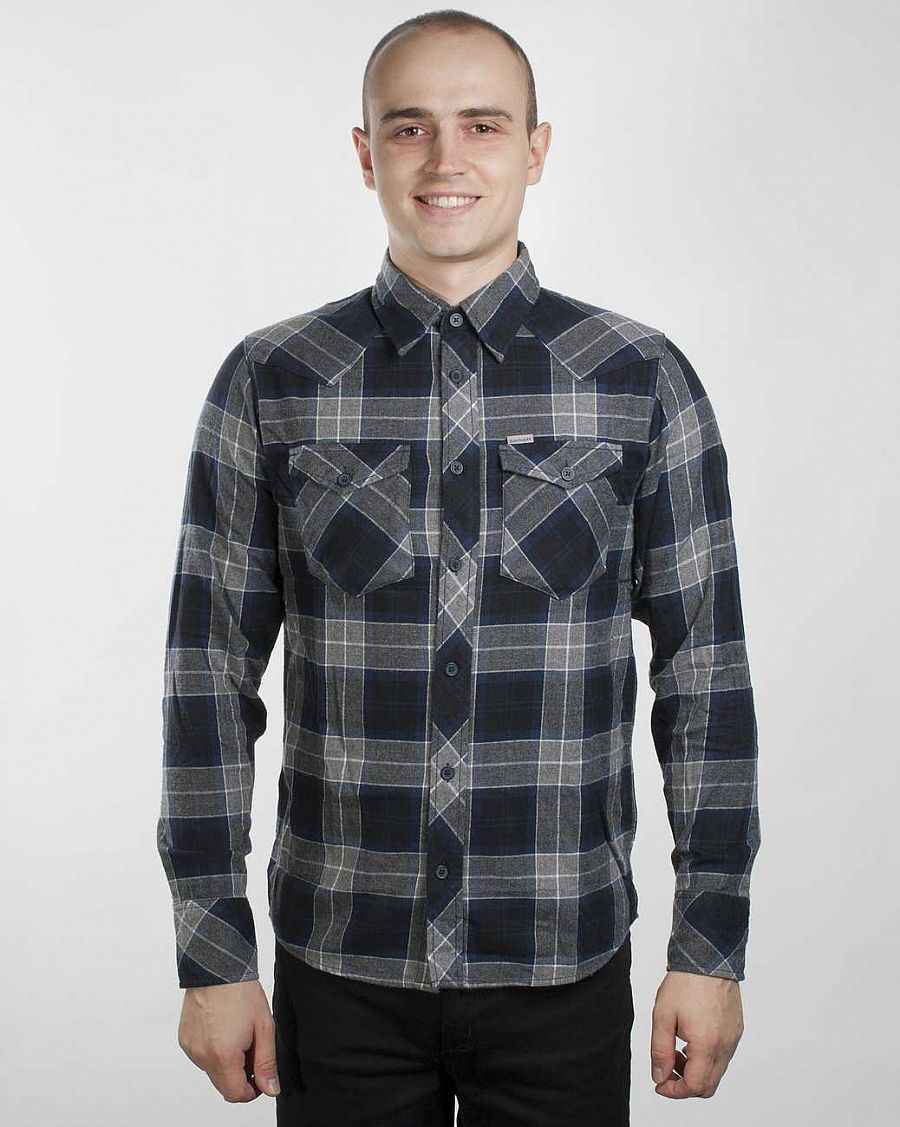 Рубашка Carhartt L/S Flurry Shirt Blue Check отзывы