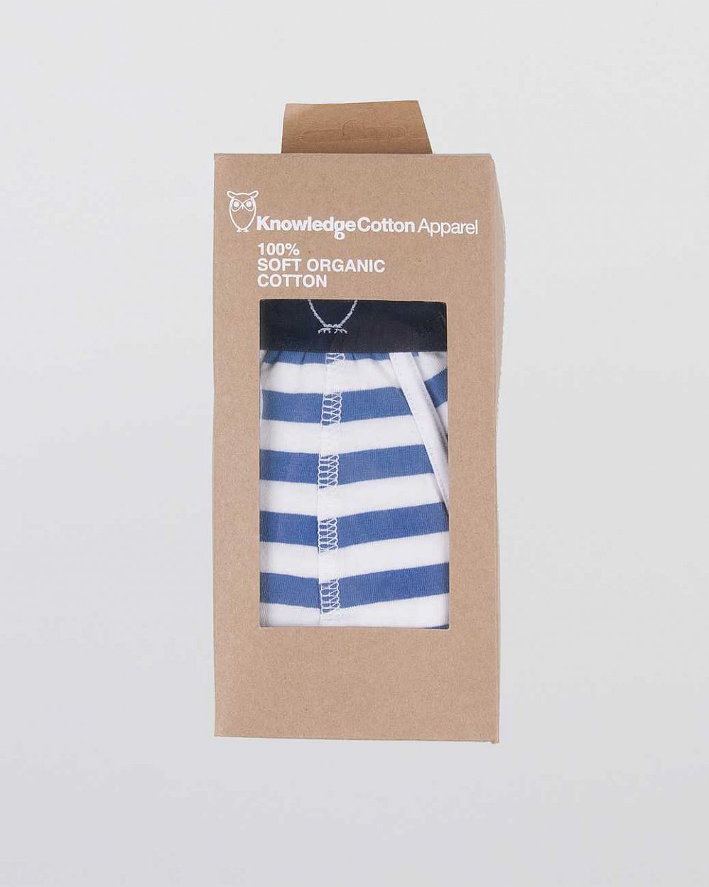 Трусы Knowledge Cotton Apparel Edvard Underwear 2 pack Blue отзывы