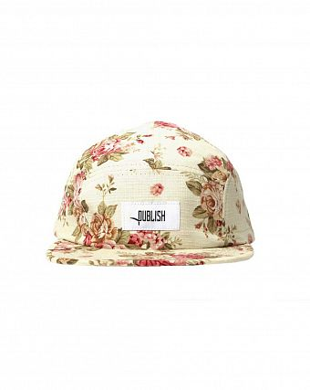 Бейсболка Publish 5 Panel White Rose