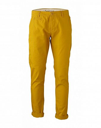 Чиносы Knowledge Cotton Apparel Twisted Twill Chinos Lemon Curry