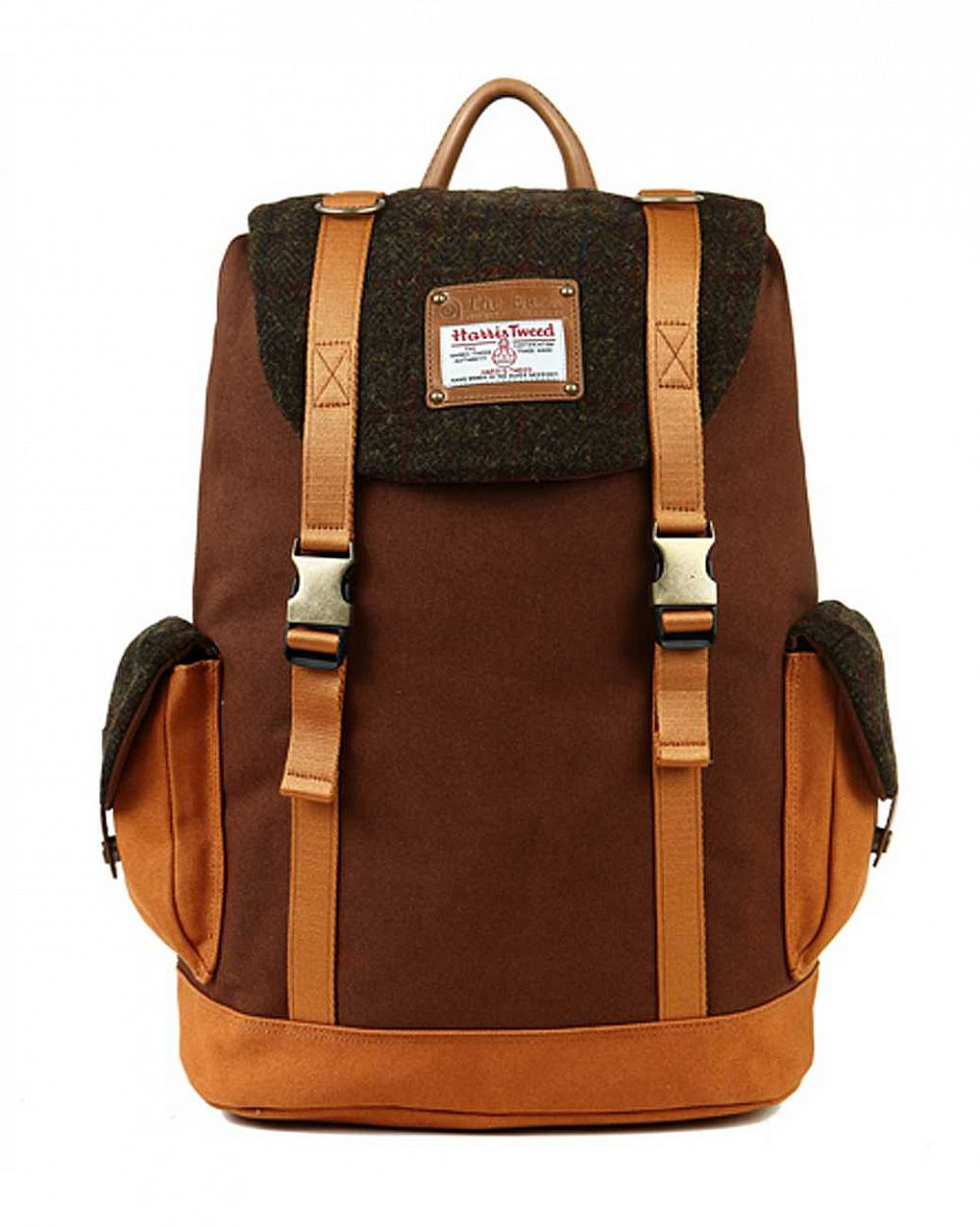 купить Рюкзак The earth Company Harris Tweed (England) Rucksack brown в Москве