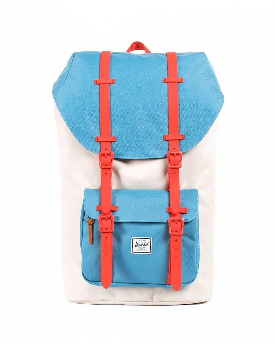 Рюкзак Herschel Little America Bone Punch Bug Blue Synchro Red отзывы