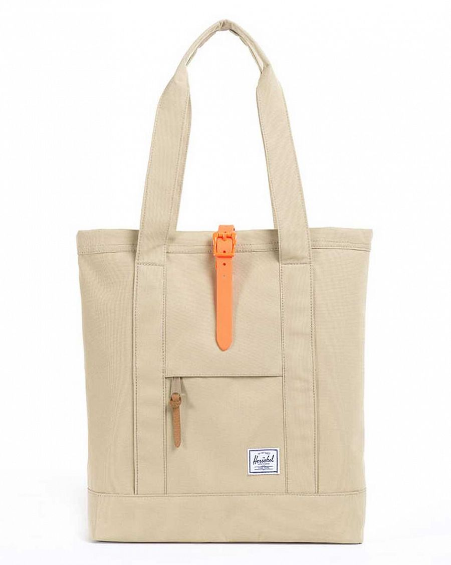 купить Сумка Herschel Market Khaki Neon Orange Rubber в Москве
