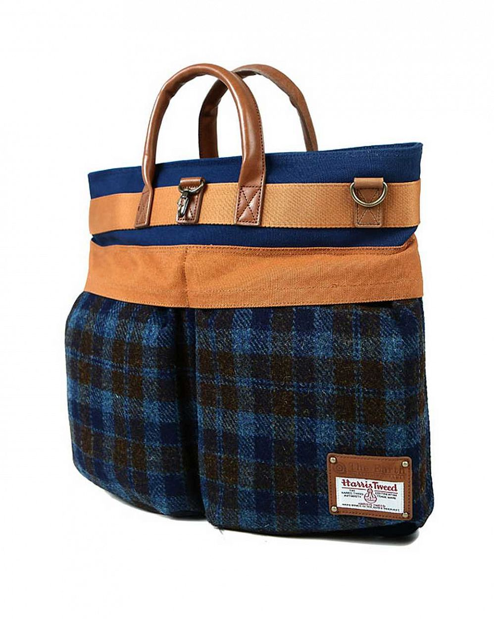 Сумка The earth Company Harris Tweed  (England) Helmet bag blue в розницу
