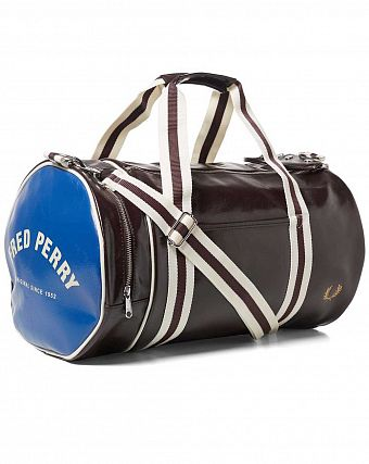 Сумка спортивная Fred Perry L4305 Classic Barrel Bag Brown Blue