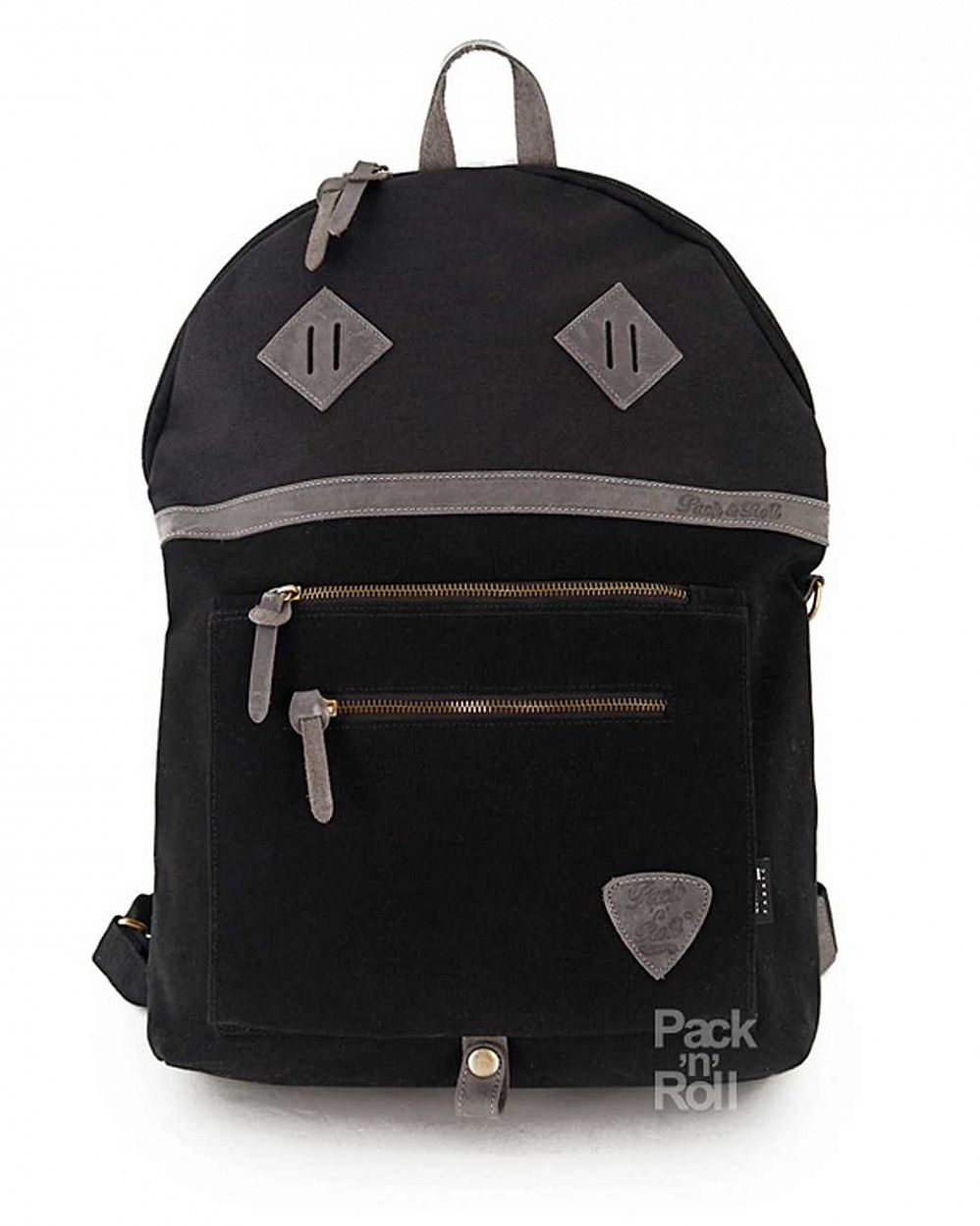 купить Рюкзак Pack n Roll Over Backpack 25 oz canvas/leather Black в Москве