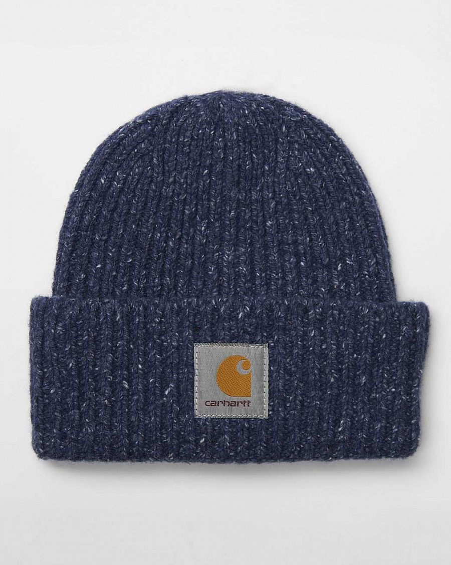Шапка Carhartt Anglistic Beanie Blue Heather отзывы