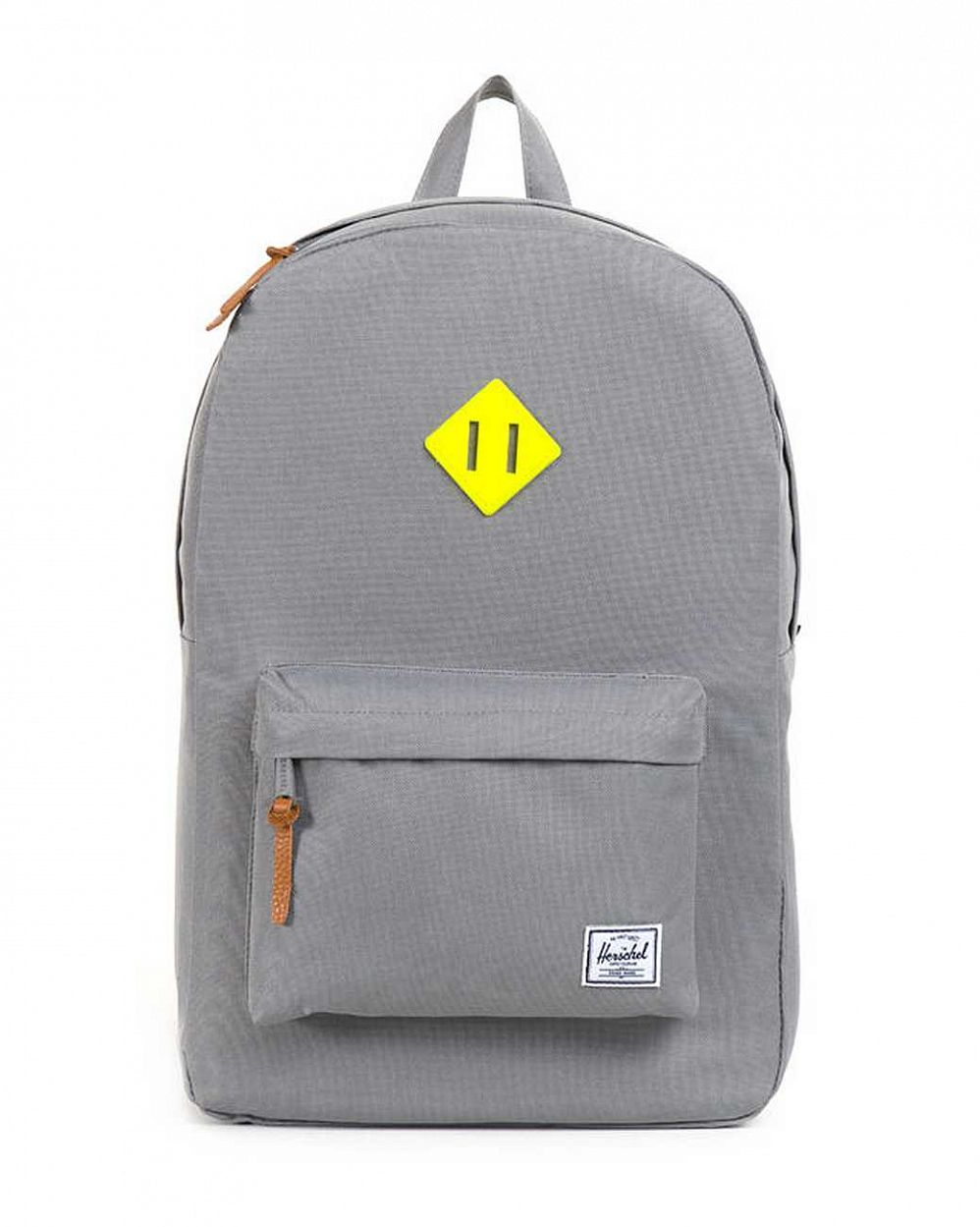купить Рюкзак Herschel Heritage Grey Neon Yellow Rubber в Москве