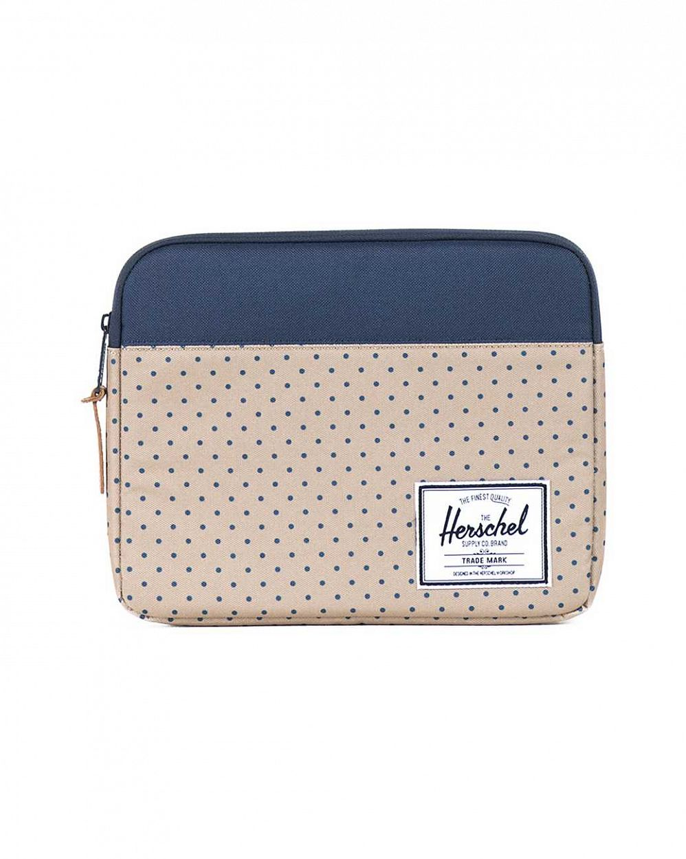 купить Чехол Herschel Anchor Sleeve для iPad Khaki Polka Dot Navy в Москве