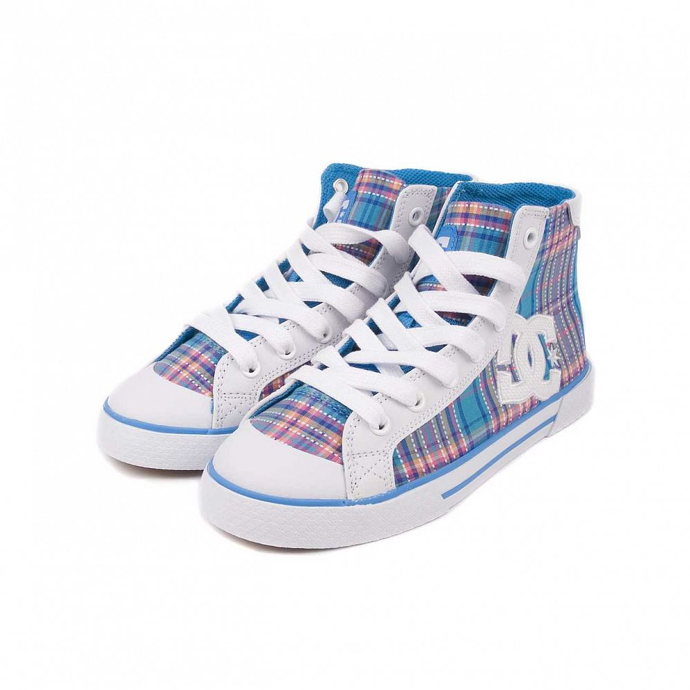 купить Кеды DC Shoes Chelsea Mid W'S White/turq/wht в Москве