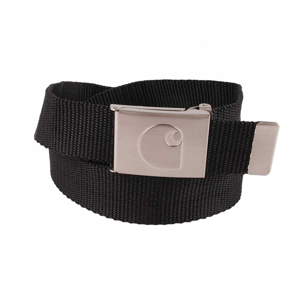 Ремень Carhartt WIP Clip Belt Chrome Black Steel отзывы