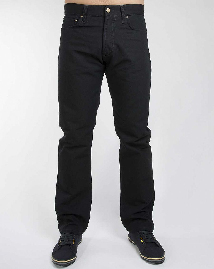 купить Джинсы Carhartt Klondike Pant Dearborn Cotton Canvas 12,0 Oz Black Rigid в Москве
