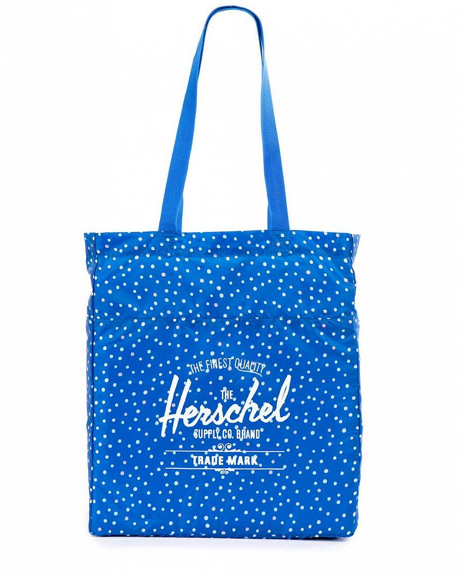 купить Сумка Herschel Packable Travel Tote Bag Cobalt Polka Dot в Москве