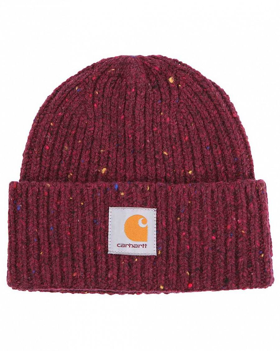 Шапка из шерсти Carhartt WIP Anglistic Wool Rich Blend Beanie Chianti отзывы