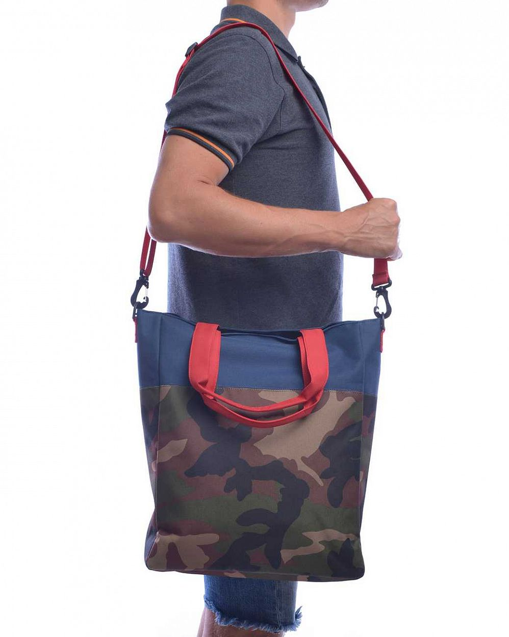 Сумка Herschel Pier Woodland Camo Navy Red отзывы