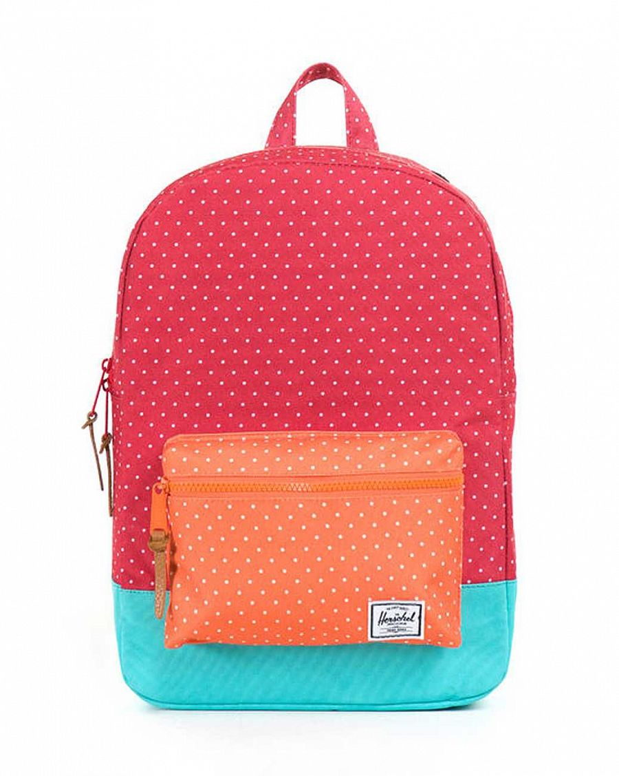 Рюкзак Herschel Settlements Youth Red Polka Dot Orange Polka Dot Harlow отзывы