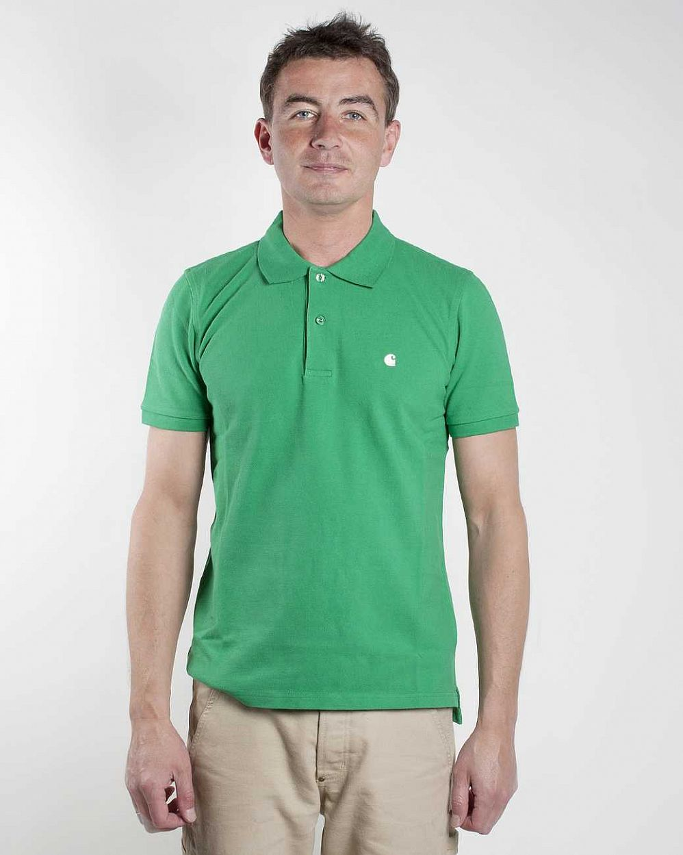 купить Поло Carhartt S/S Slim Fit Polo Shamrock white в Москве