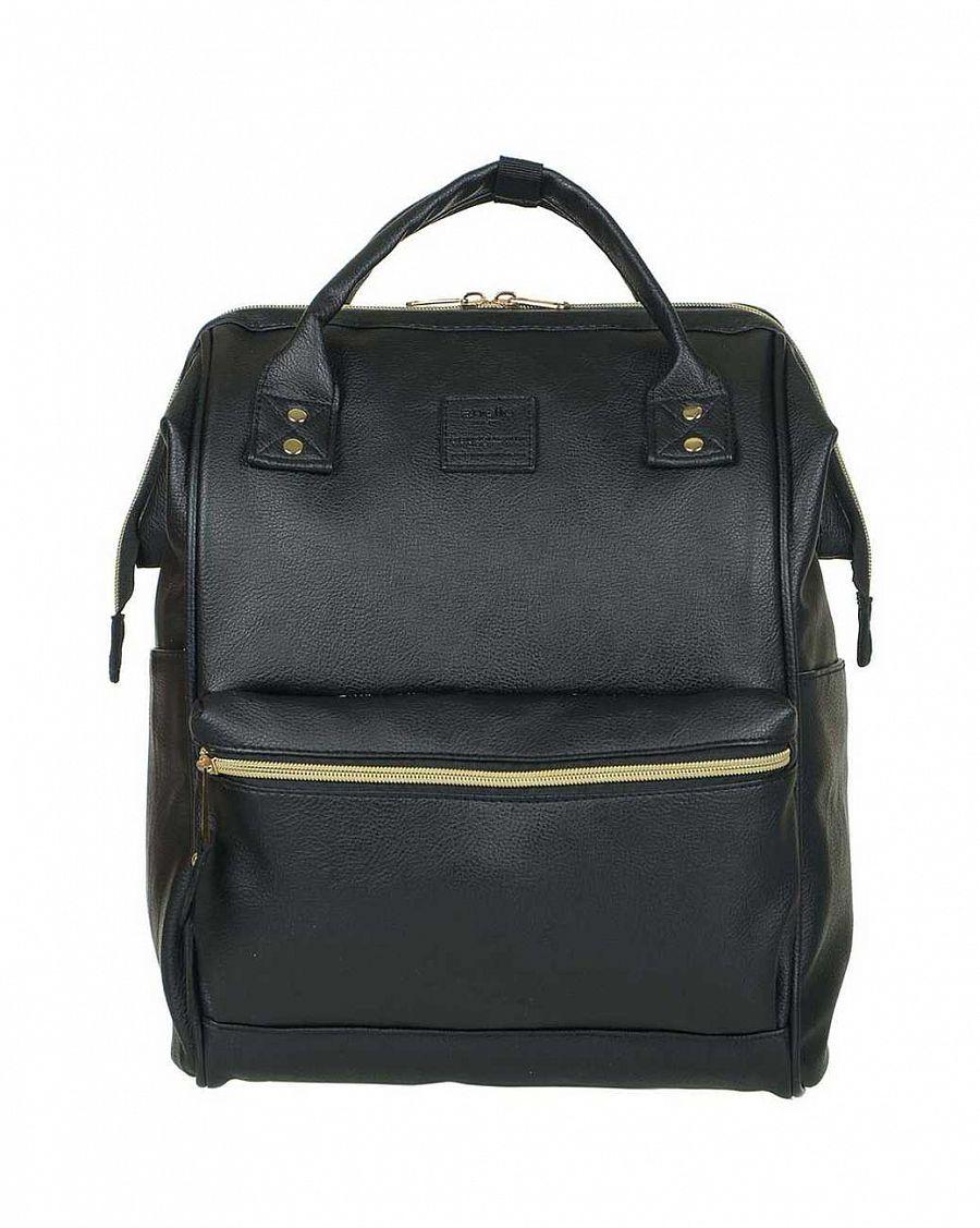 cbf91cbbd6c6 Рюкзак с двумя ручками кожаный малый Anello Black купить с доставкой ...