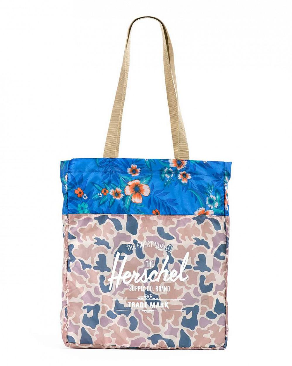 купить Сумка Herschel Packable Travel Tote Bag Duck Camo Paradise в Москве