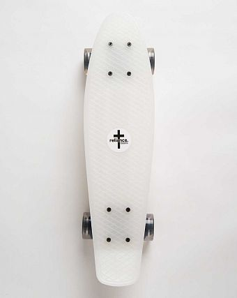 Пенни борд рыбка Reliance Penny board White White Clear