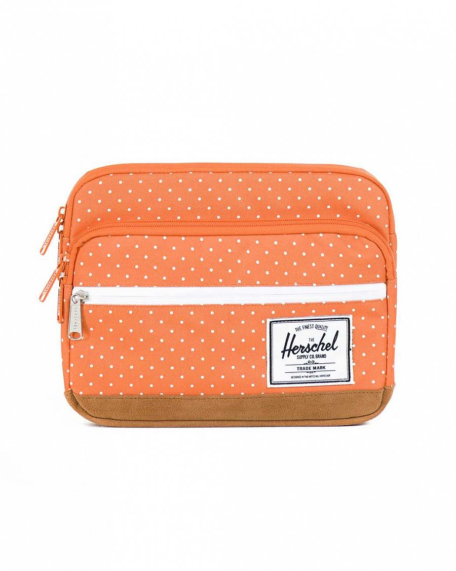 купить Чехол Herschel Pop Quiz Sleeve для 11'' Macbook Orange Polka Dot в Москве